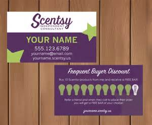 scentsy business card template scentsy consultant business card w frequent by mycrazydesigns