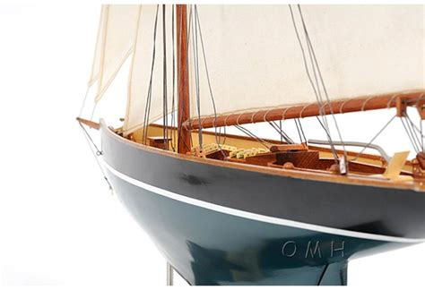 duick wooden sailboat legendary racing model replica ship decoration