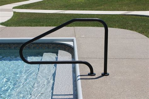 Pool Handrail Hand Rails Amp Ladders Modern Pool Indianapolis By