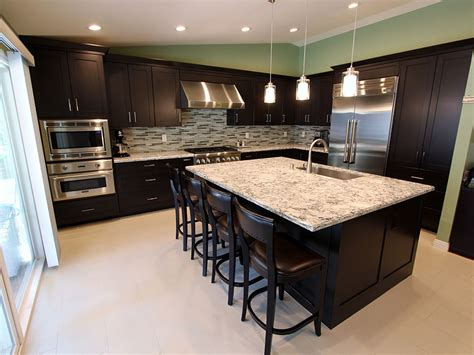 contemporary home decorating custom kitchens cabinets rowland heights modern black l shaped kitchen with custom