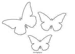 cut out template butterfly cut out template coloring page