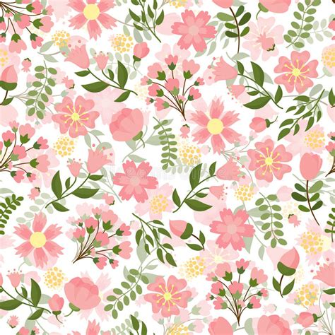 design pattern used in spring seamless spring floral background stock vector