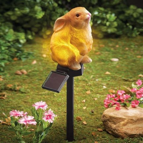 Rabbit Garden Decor Solar Bunny Garden Stake Fresh Garden Decor