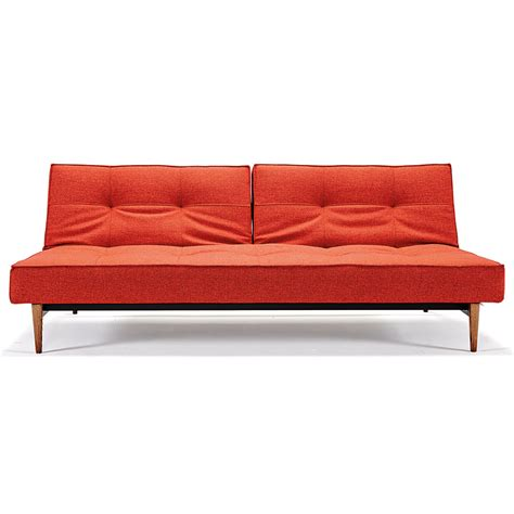 Orange Sleeper Sofa Splitback Sleeper Orange Fabric Wood Eurway