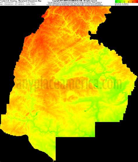 maryland map elevation free frederick county maryland topo maps elevations