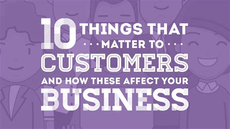 your business and company matters today 10 things that matter to customers and how these affect