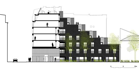 gallery of 58 social housing in antibes atelier pirollet gallery of social housing units in paris atelier du pont