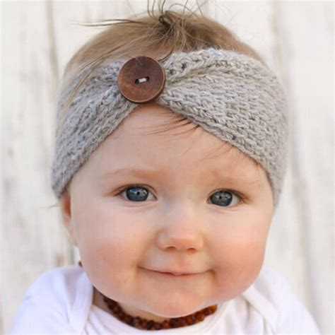 23 colors knitted turban headbands for winter warm newborn turban ear winter warm button headband crochet