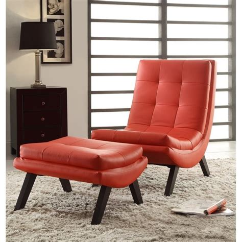 Faux Leather Chair And Ottoman by Faux Leather Lounge Chair And Ottoman Set In Tsn51 U9
