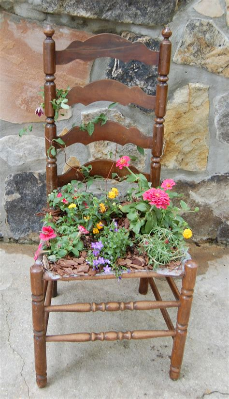 Chair Planter by An Chair Takes Front Seat In The Garden When It