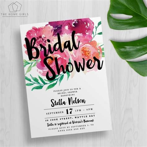 kitchen tea invites ideas printable floral bridal shower invitation kitchen tea bachelorette wedding engagement