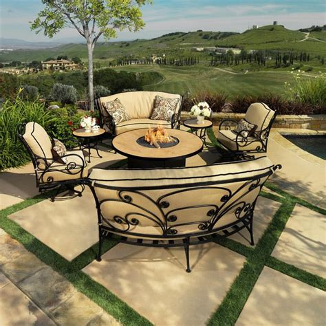 firepit table set pit chair set pit design ideas