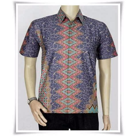 Baju Koko Ihsan Motif Batik batik modern