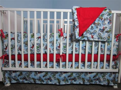 Dirt Bike Crib Bedding 17 Best Images About Bike Nursery On Boy Baby Onesie And Dress Clothes
