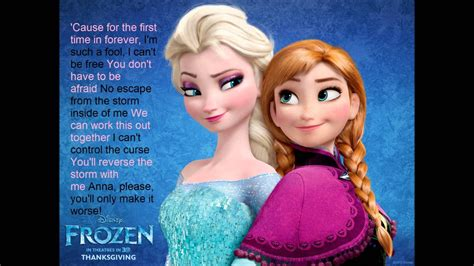 elsa film song frozen for the first time in forever reprise lyric video