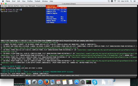 Slime Tutorial Emacs | emacs slime common lisp evaluating region and printing