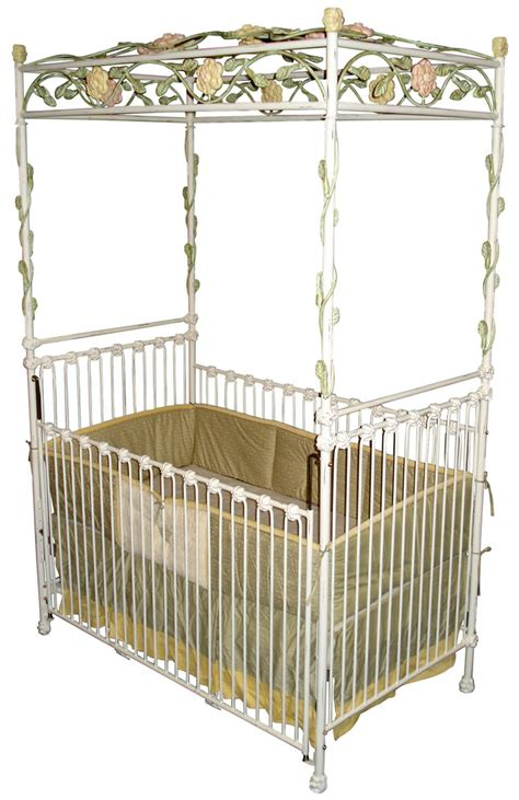 Crib With Canopy by Garden Trellis Iron Canopy Crib