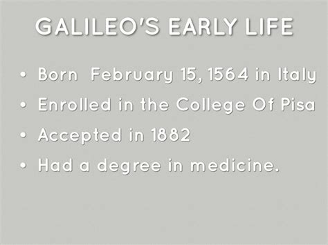 galileo galilei education biography galileo galilei by trent hastings
