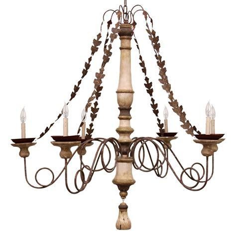 antique chandelier chain galicia antique brass metal leaf chain 6 light