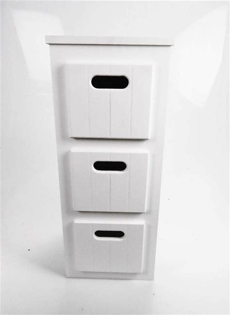 narrow bathroom shelving unit reduced white wooden narrow 3 chest of drawers bedside bathroom storage unit ebay