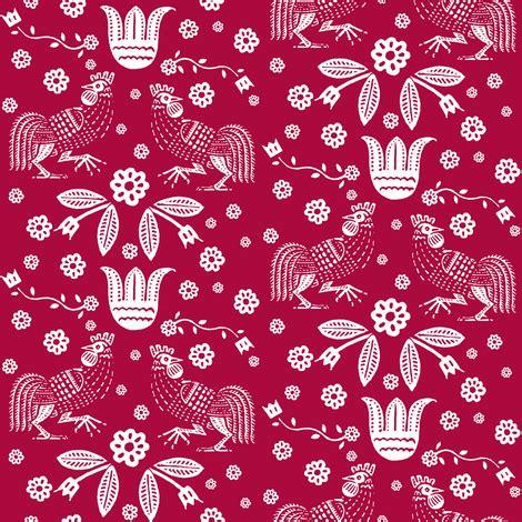 barnyard toile red fabric keweenawchris spoonflower