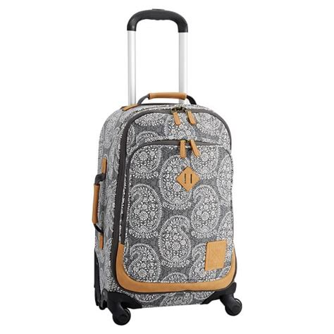 Apply For Pottery Barn Credit Card Northfield Black Paisley Carry On Spinner Pbteen