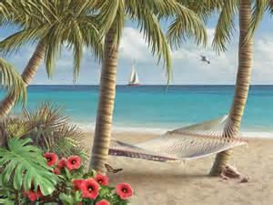 beach and tropical murals beach scene wallpaper scenery wallpaper tropical beach wallpaper border