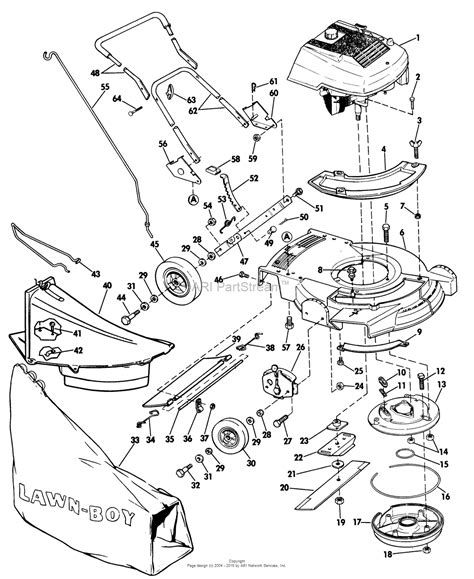 lawn boy mower parts diagram lawn boy 7263 lawnmower 1974 sn 400000001 499999999
