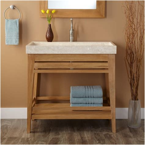 Bathroom Vanities With Shelves by Shelves Furniture Vanity Shelf Bathroom Diy Open Shelving