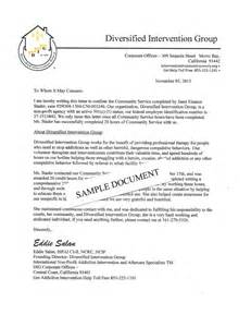 Sle Community Service Letter by The Diversified Intervention