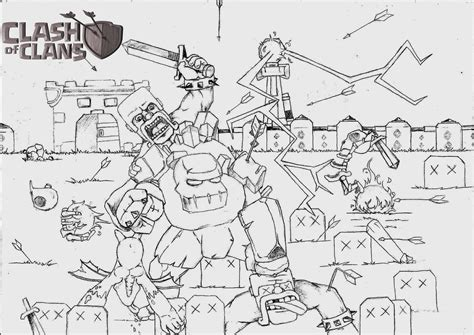 clash of clans archer queen coloring page preview free healer coc coloring pages