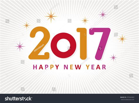 happy new year 2017 colorful logo stock vector 475564303