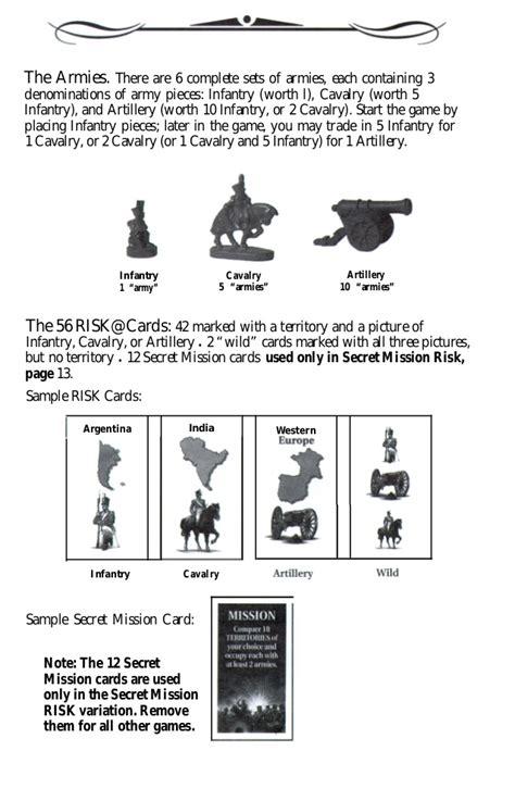 Risk Secret Mission Cards Printable
