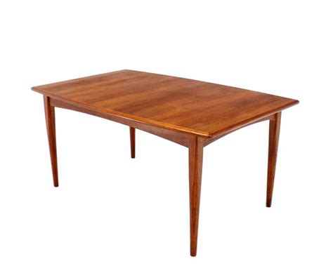 Pop Up Dining Table Modern Teak Boat Shape Dining Table With Two Pop Up Leafs Extension Board For Sale At 1stdibs