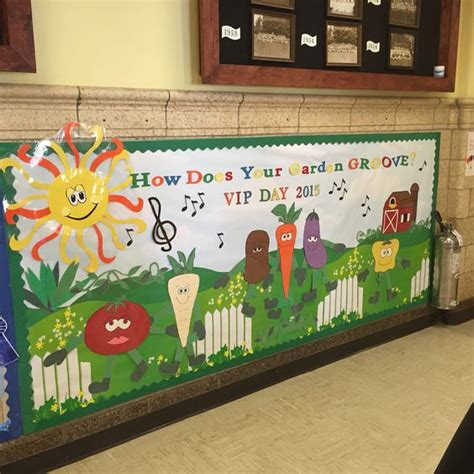 Garden Bulletin Board Ideas How Does Your Garden Groove Bulletin Board Vip Day Elementary School Bulletin Board