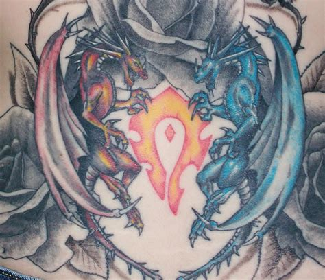 fire and ice tattoo and dragons by hyperpittie on deviantart