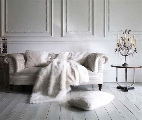 snow white faux fur throw by helen winter