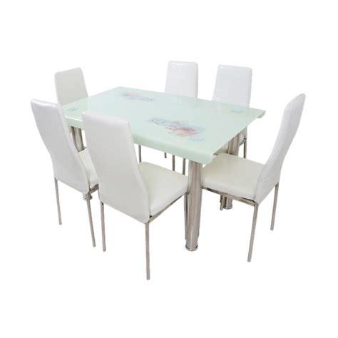 Dining Merah Set Meja Makan jual best furniture 4529 dining set meja makan putih