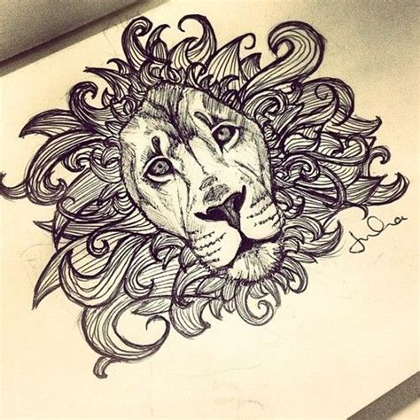 lion tattoos tumblr ornate drawing search artsy stuff
