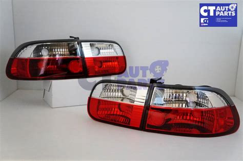 eg hatch clear tail lights for sale crystal clear red tail light for 92 95 honda civic eg vti