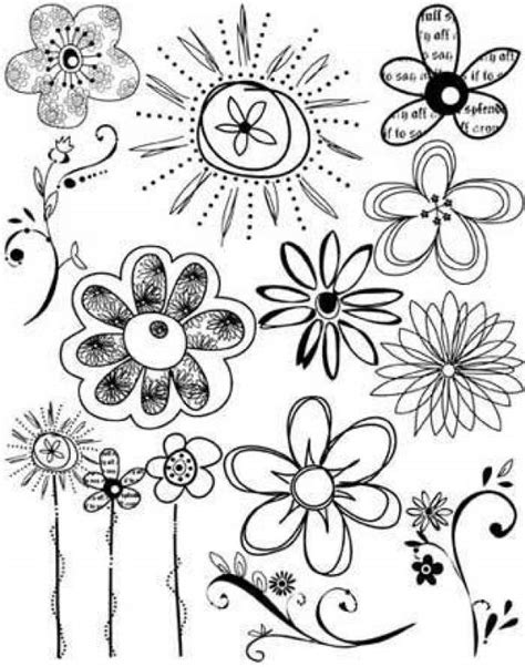 doodle flowers vector scrapbooking le doodling page 2