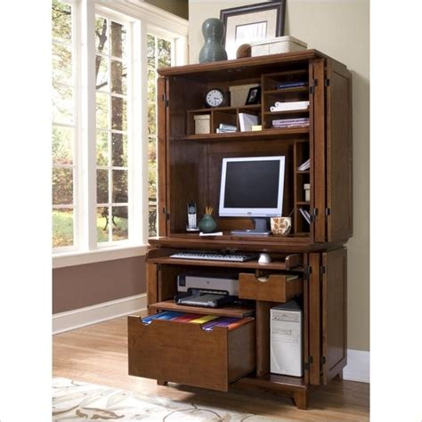 Small Computer Armoire Desk by Home Styles Arts Crafts Compact Desk And Hutch Cottage