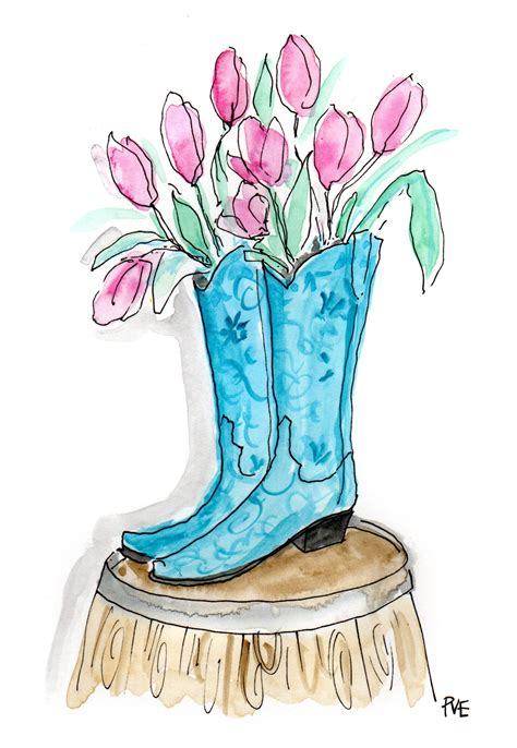 cowboy boot illustrations and clip art 1346 cowboy boot western wednesday pve design