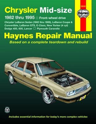 free car repair manuals 1995 dodge spirit navigation system all chrysler new yorker parts price compare