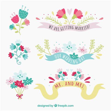 cute wedding decoration vector free download cute floral wedding decoration vector free download