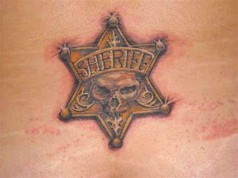 control tattoo this combines the symbols of a sheriff