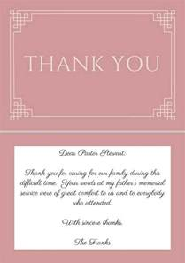25 best ideas about funeral thank you notes on