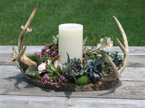 floral arrangements für esszimmer tische rustic deer antler flower by thevinedesigns on etsy fran