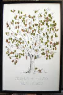 tree guest book guest book fingerprint tree guestbook drawing 2 st pads