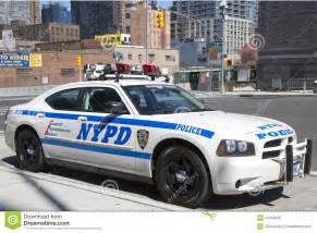 new york car nypd highway patrol car in manhattan editorial photography